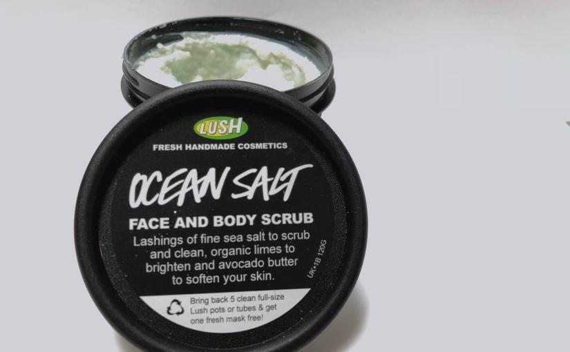 ocean salt exfoliant pour le corps et pour le visage lushastic. Black Bedroom Furniture Sets. Home Design Ideas